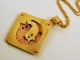 Mixed Metal Ying and Yang Cats Pendant Necklace