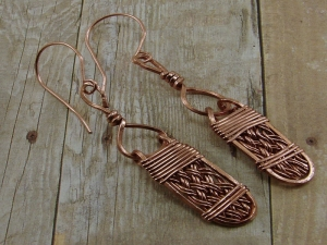 Copper Handwoven Earrings