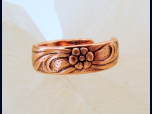 Copper Pattern Toe Ring
